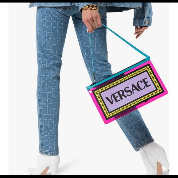 Versace Handbags - Versace Multicolored PVC clutch bag